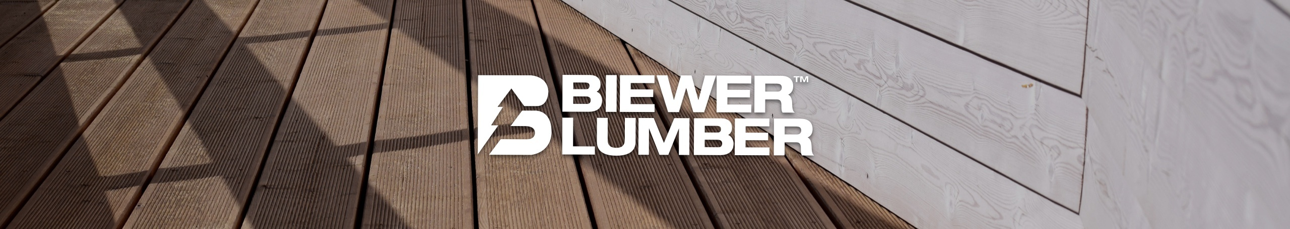 Biewer Lumber logo with lumber deck
