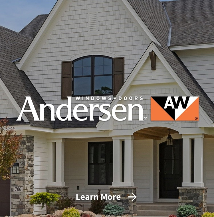 Andersen windows & doors on house