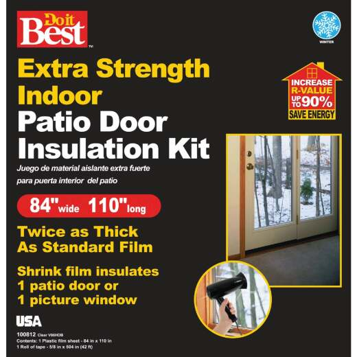 Do it Best 84 In. W. x 110 In. L. Patio Door/Window Shrink Film