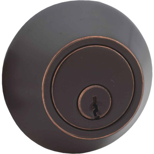 Steel Pro Oil Rubbed Bronze Kwikset Double Cylinder Deadbolt
