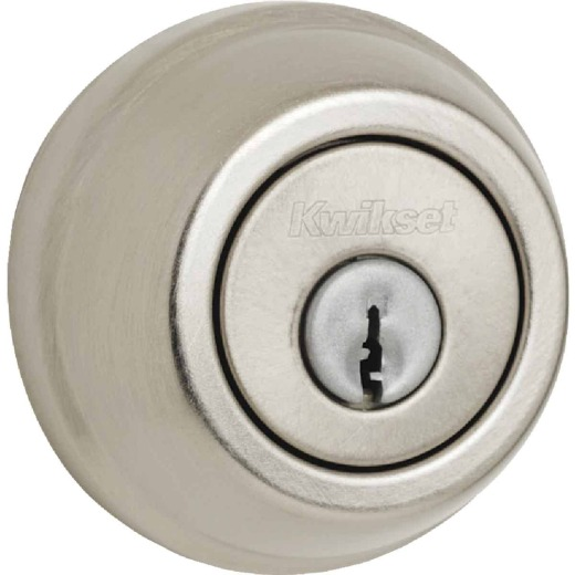 Kwikset Satin Nickel Adjustable Latch Double Cylinder Deadbolt