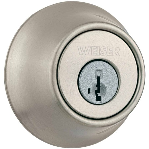 Weiser Elements Satin Nickel Single Cylinder Deadbolt