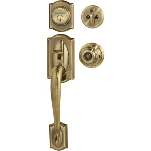 Schlage Antique Brass Entry Door Handleset