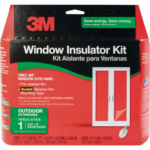 3M Outdoor Patio Door 84 In. x 112 In. Window Insulation Kit