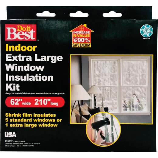 Do it Best 62 In. x 210 In. Indoor Shrink Film Window Kit