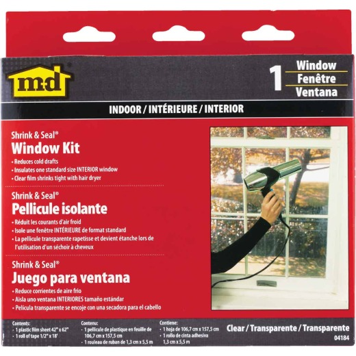 M-D Shrink & Seal 42 In. x 62 In. Indoor Window Insulation Kit