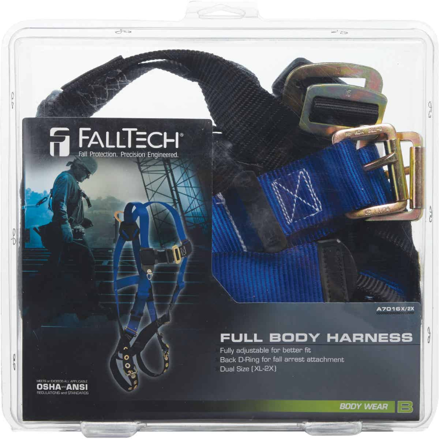 Fall Tech Extra Large Vest-Style Body Harness Image 2