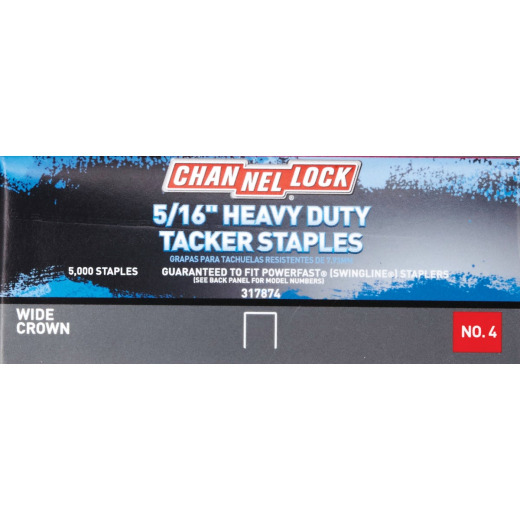 Channellock No. 4 Hammer Tacker Staple, 5/16 In. (5000-Pack)