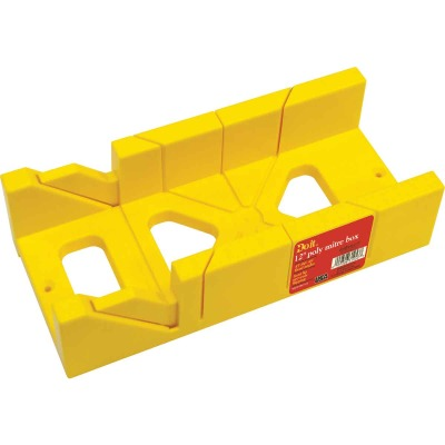Do it Plastic 12 In. Miter Box (Saw not Included)