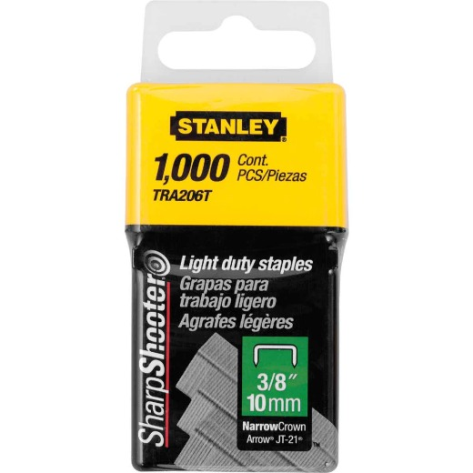 Stanley SharpShooter Light-Duty Narrow Crown Staple, 3/8 In. (1000-Pack)
