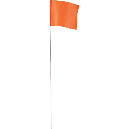 Empire 21 In. Steel Staff Orange Marking Flags