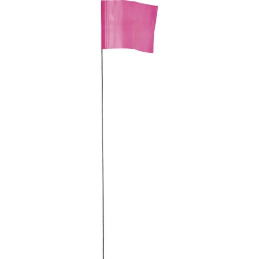 Empire 21 In. Steel Staff Pink Marking Flags