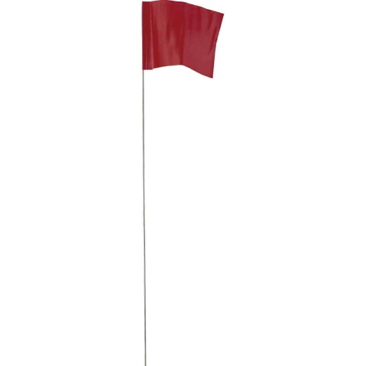 Empire 21 In. Steel Staff Red Marking Flags