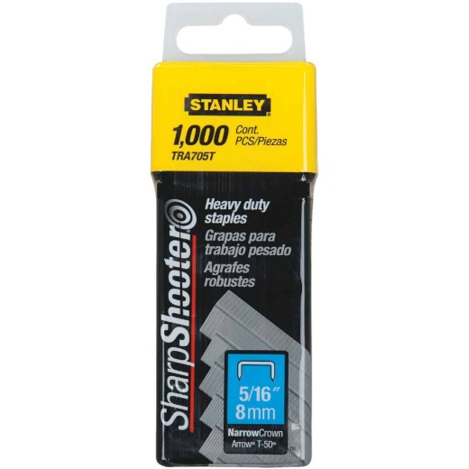 Stanley SharpShooter Heavy-Duty Narrow Crown Staple, 5/16 In. (1000-Pack)