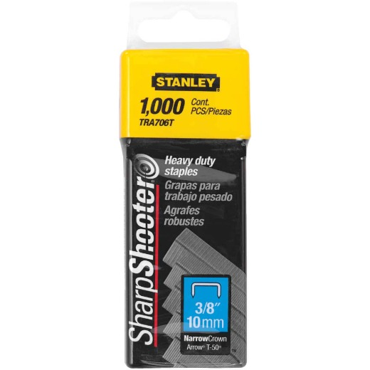 Stanley SharpShooter Heavy-Duty Narrow Crown Staple, 3/8 In. (1000-Pack)