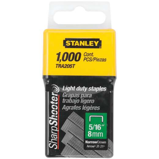 Stanley SharpShooter Light-Duty Narrow Crown Staple, 5/16 In. (1000-Pack)