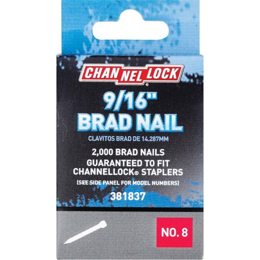 Channellock18-Gauge Steel Brad Nail, 9/16 In. (2000-Pack)