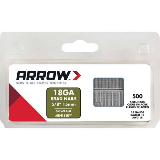 Arrow 18-Gauge Steel Brad Nail, 5/8 In. (1000-Pack)