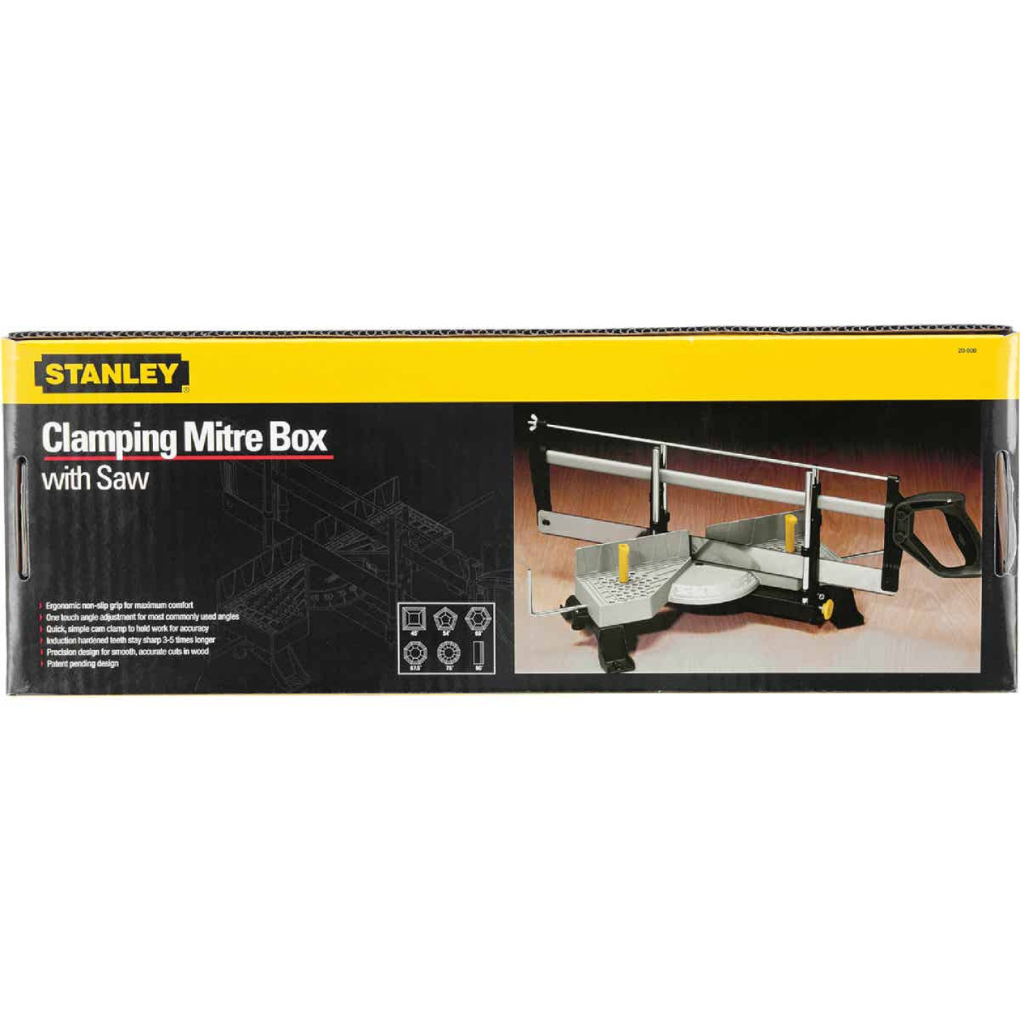 Stanley Aluminum Adjustable Angle Clamping Miter Box & 22 In. Saw Image 2