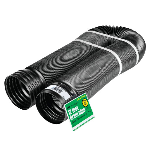 Amerimax 4 In. X 12 Ft. Expandable Solid Drainage Pipe