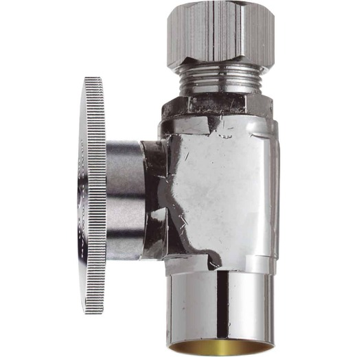Do it 1/2 In. Sweat x 3/8 In. Compression Quarter Turn Straight Valve