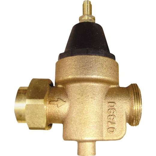 Watts 1 In. Female Threaded Union x 1 In. NPT Bronze Pressure Regulator