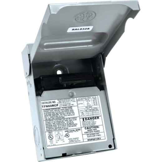 GE 60A 240V Non-Fused Air Conditioner Disconnect