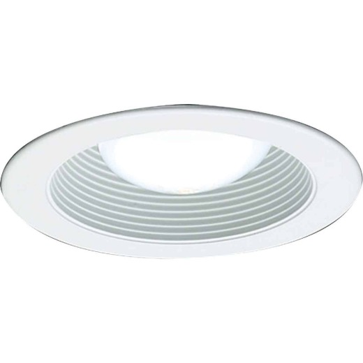 Thomas 4 In. White Trim w/White Baffle Recessed Fixture Trim