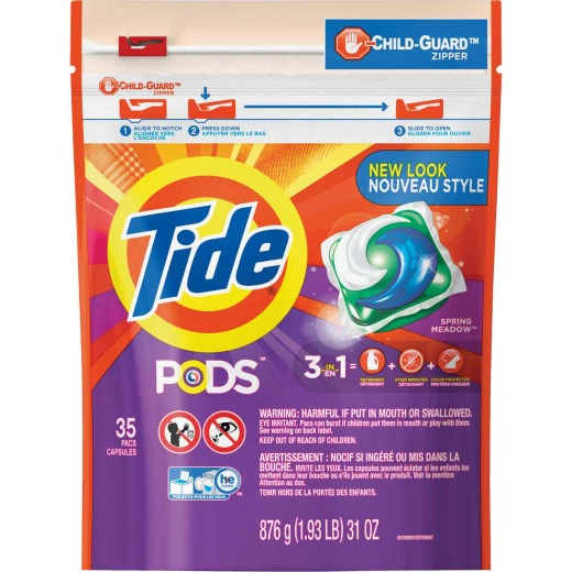 Tide Pods Spring Meadow Child-Guard Zipper Laundry Detergent (35-Count)