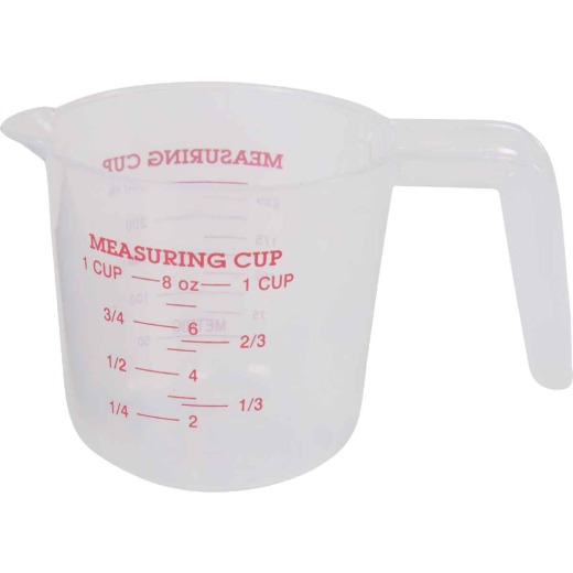 Norpro 1 Cup White Plastic Measuring Cup