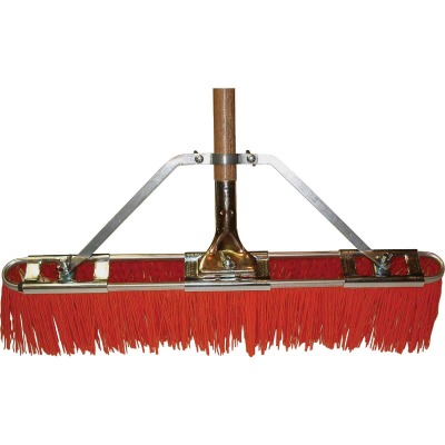 Bruske 23 In. W. x 65 In. L. Wood Handle Street Sweep Push Broom