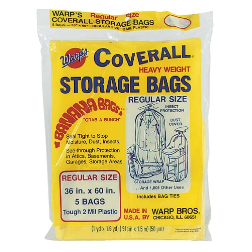 Warp's Coverall 36 In. x 60 In. Heavyweight Storage Bag (5 Count)
