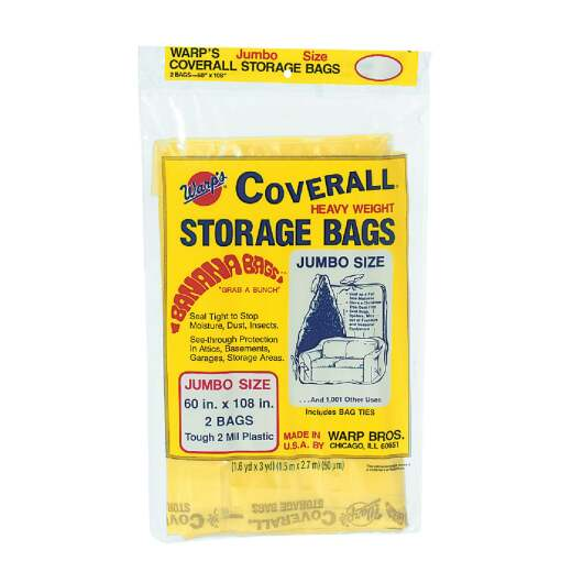 Warp's Coverall 60 In. x 108 In. Heavyweight Storage Bag (2 Count)