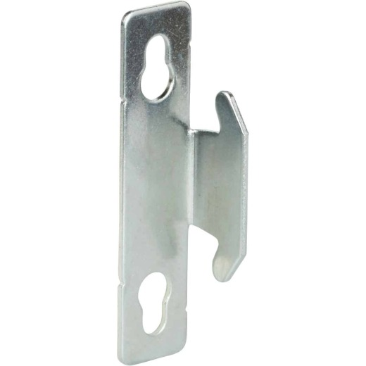 Kenney Single Silver Curtain Rod Bracket (2-Pack)