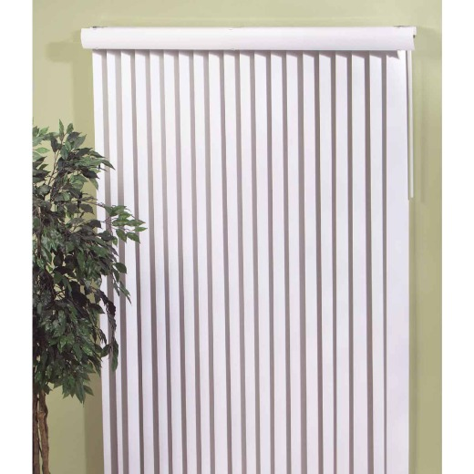 Home Impressions 66 In. x 84 In. White Vinyl Vertical Blinds