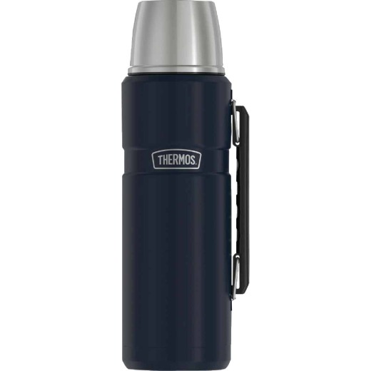 Thermos Stainless King 40 Oz. Midnight Blue Stainless Steel Insulated Vacuum Bottle with Handle