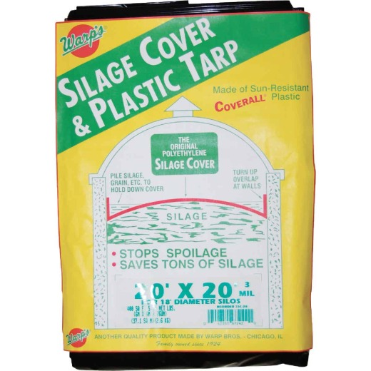 Warp's 20 Ft. X 20 Ft. Coverall Polyethylene 3 Mil. Silage Cover