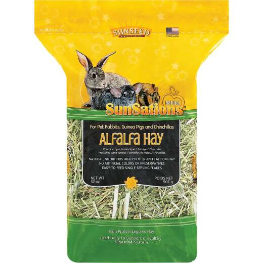 Sunseed SunSations 32 Oz. Alfalfa Hay Chinchilla, Guinea Pig, & Pet Rabbit Food