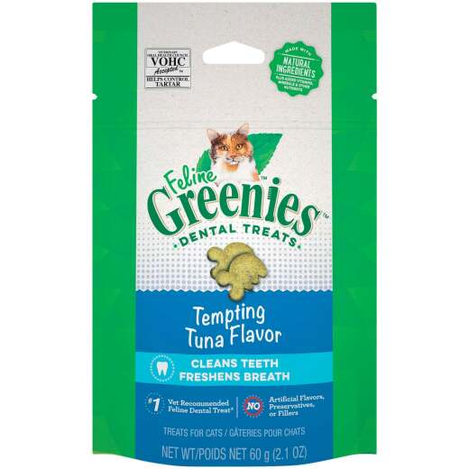 Greenies Tempting Tuna 2.1 Oz. Dental Cat Treats