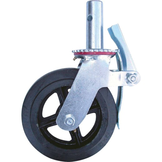 MetalTech 8 In. Scaffolding Caster with Double Lock 750 Lb. Load Capacity