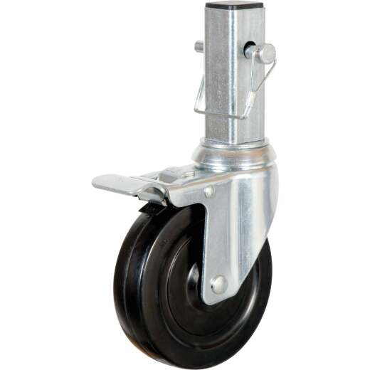 MetalTech 5 In. Scaffolding Caster with Double Lock 350 Lb. Load Capacity