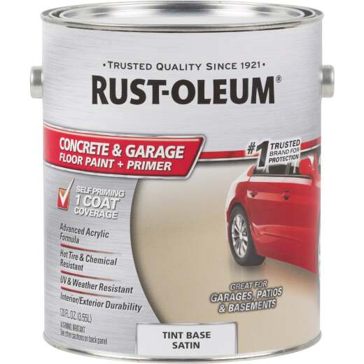 Rust-Oleum Concrete & Garage Floor Paint & Primer, 1 Gal., Tint Base