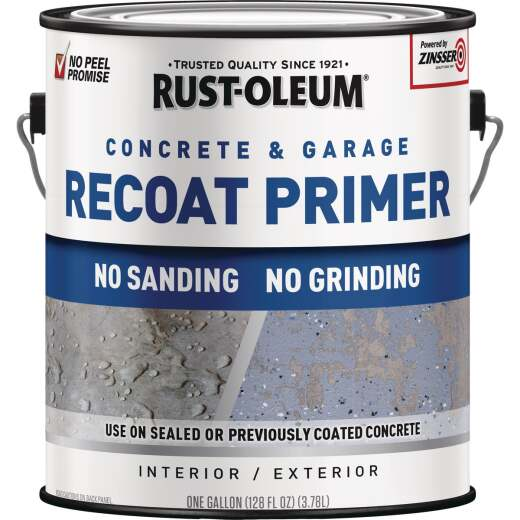 Rust-Oleum Garage & Concrete Recoat Floor Primer, Semi-Transparent Gray, Gal