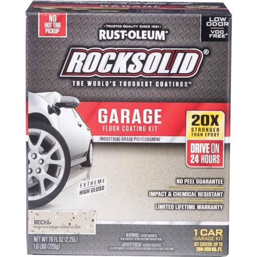 Rust-Oleum RockSolid VOC Free Garage Floor Coating Kit, Mocha, 76 Oz.