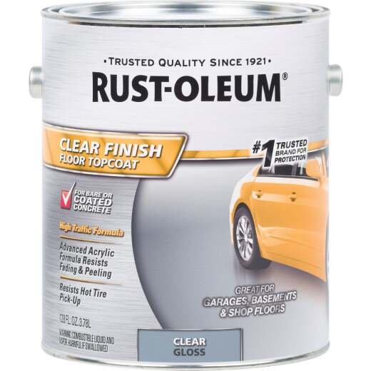 Rust-Oleum Clear Finish Topcoat Floor Coating, 1 Gal.