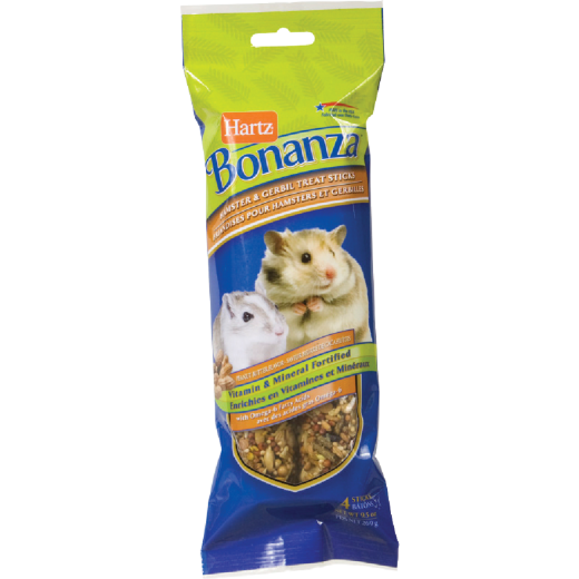 Hartz Bonanza 9.5 Oz. Peanut Butter Flavored Hamster & Gerbil Treat (4-Pack)