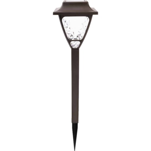 Fusion Bronze 2.4 Lumens Plastic Solar Path Light with Textured Lens (4-Pack)