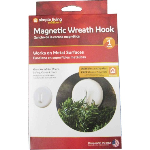 Simple Living Solutions 2 In. Magnetic Plastic Wreath Hanger